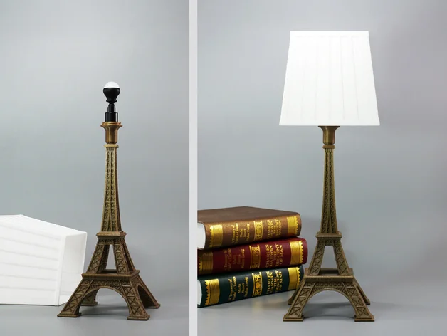 Eiffel Tower Lamp By Toolmoon Thingiverse Eiffel Tower Lamp Lamp Eiffel Tower