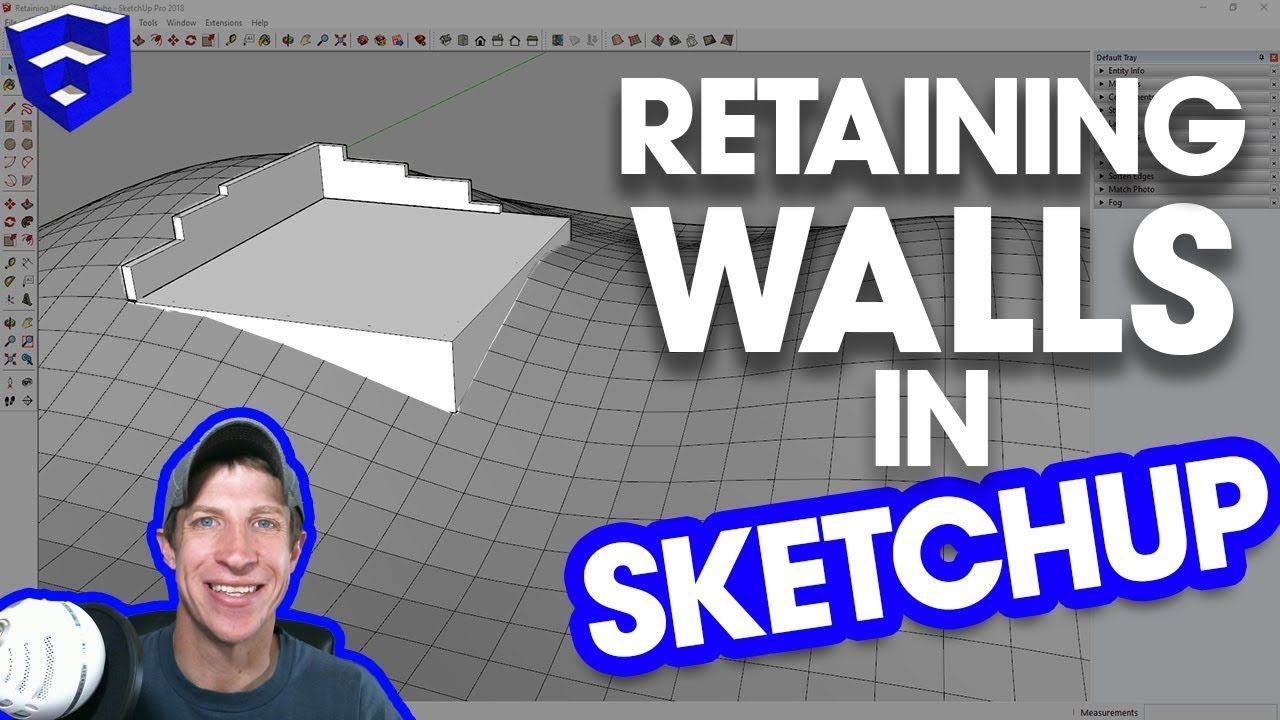 Modeling A Retaining Wall In Terrain In Sketchup Retaining Wall