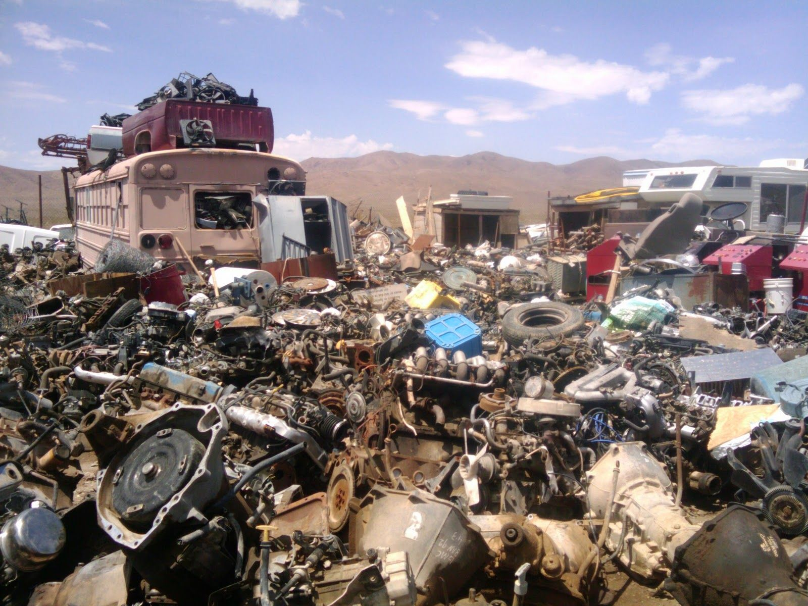 junkyard | was careful not to get too close to this stack, I was ...