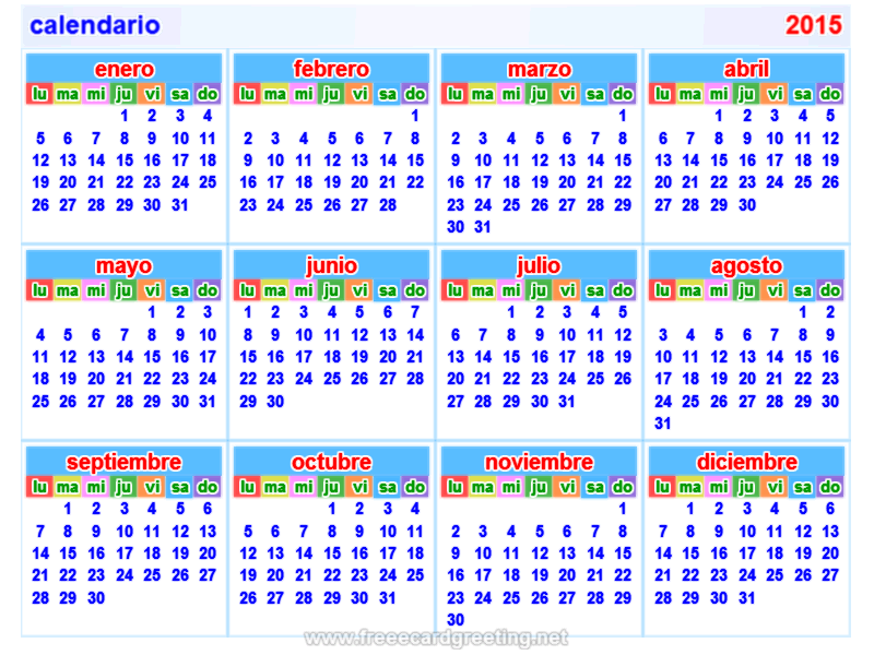 Calendario Per Pc.Calendario 2015 Free Calendar In Spanish For My Sponsored