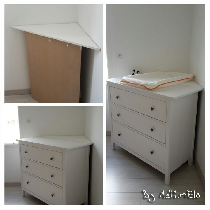 Ikea hack table langer en coin chambre b b - Commode d angle chambre ...