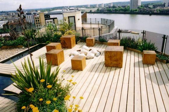 holzterrasse einrichten holzdielen steibe gartenteich Garten - gartenteiche an terrasse