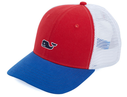 6f32900025280 Vineyard Vines High Profile Whale Logo Trucker Hat