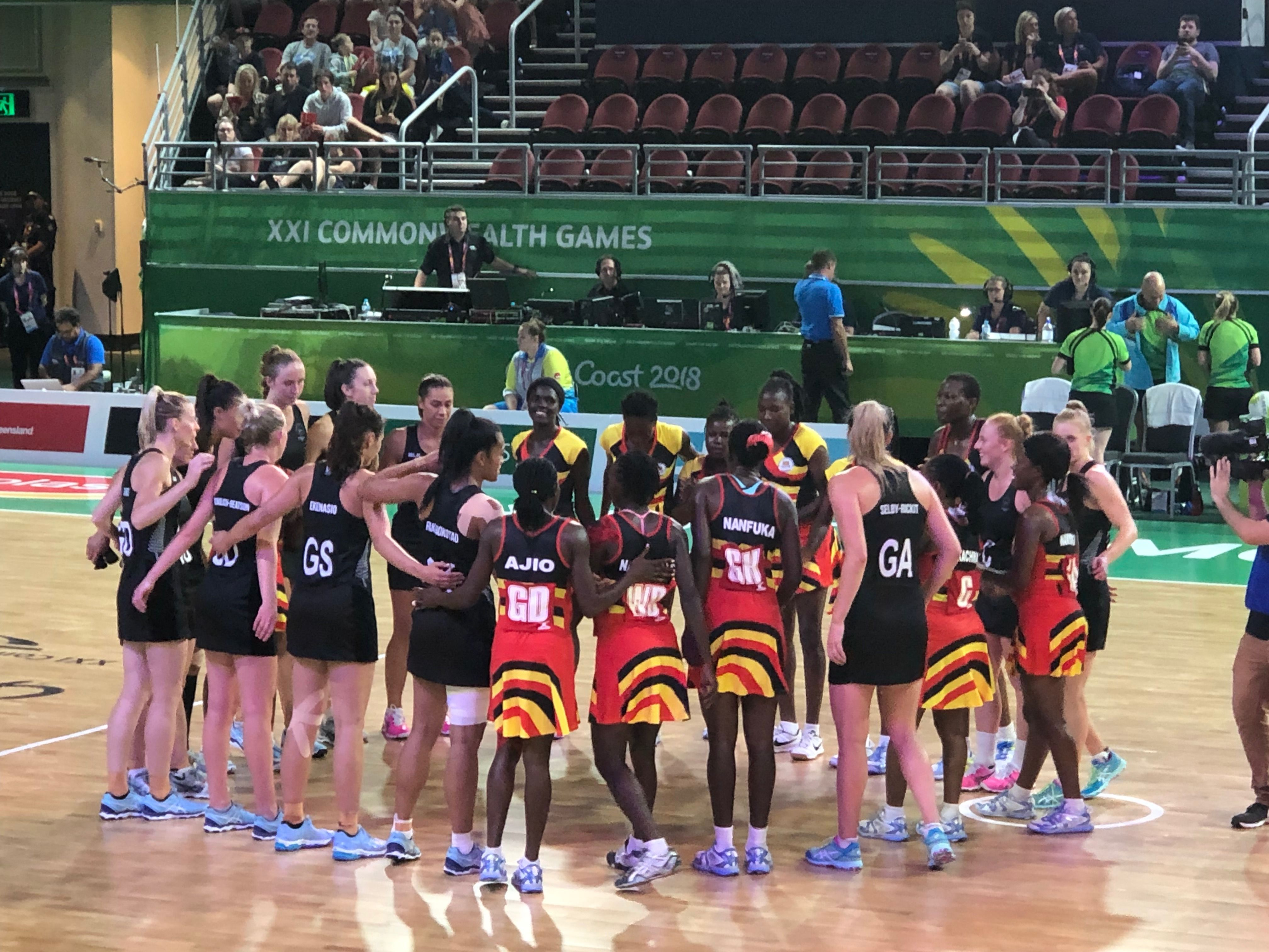 New Zealand Vs Uganda Gold Coast Commonwealth Games