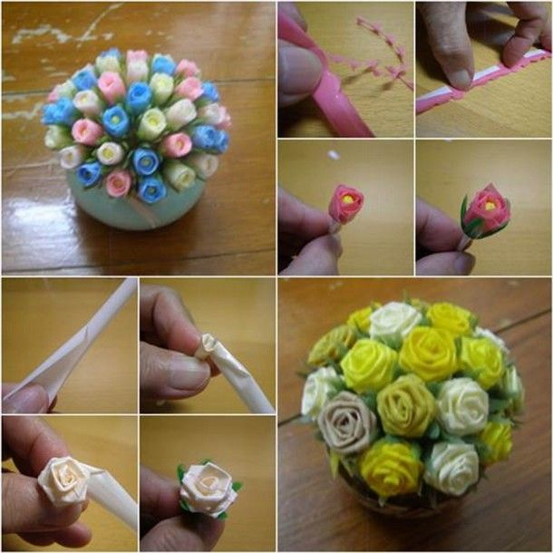 Cara Membuat Bunga Dari Sedotan Beserta Gambarnya Dengan Gambar