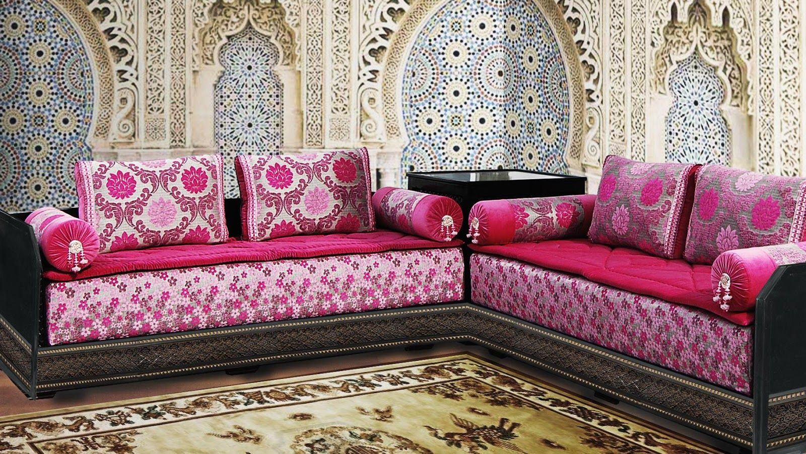 Salon marocain design exceptionnel salon marocain for Decoration coin salon moderne