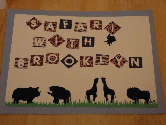 Safari With Brooklyn - Scrapbook.com