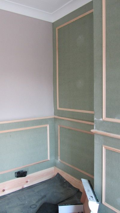Before Painting Heritage Wall Panels With Feature Wall