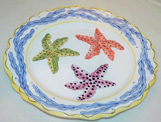 """MAJiLLY Holiday Drawing Starfish 15""""  Platter… Retail value $150- $8 buys a ticket via Paypal Only 25 tickets  FREE SHIPPING in  48. Drawing held once 25 tickets are sold  Here is the to buy ticket…"""