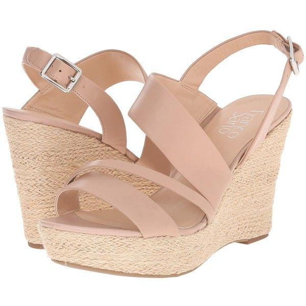 Franco Sarto Sofia 2 (Vintage Mauve) Women's Wedge Shoes ($89) ❤ liked