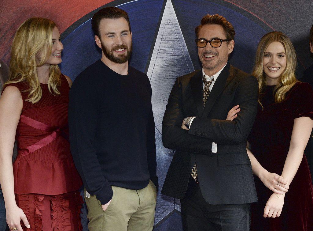 Chris Evans And Robert Downey Jr Get Seriously Silly On The Red Carpet Robert Downey Jr Chris Evans Downey Junior
