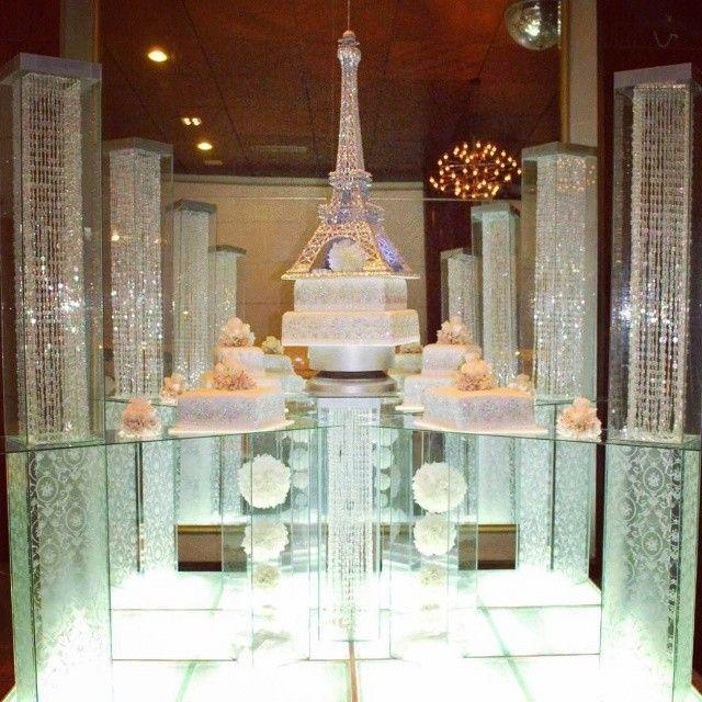 Nigerian wedding separate tier Eiffel Tower wedding cake by ...