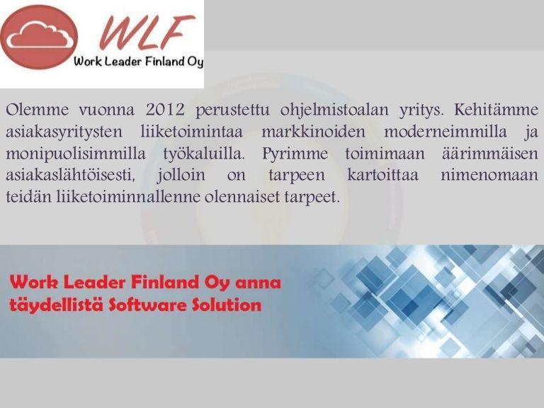 Scoro liikkeenjohdon ohjelmisto, joka hoitaa ad raidat dataa Customer Relationship Management (CRM). Se on pilvi pohjainen liiketoiminnan ohjelmisto. Avulla Socro siellä on tarpeen sekoitus eri ohjelmistojen ja sähköpostit ja muita. Voit keskittyä ydinliiketoimintaan helposti. Lisätietoja tutustumalla verkkosivuilla http://workleader.fi/