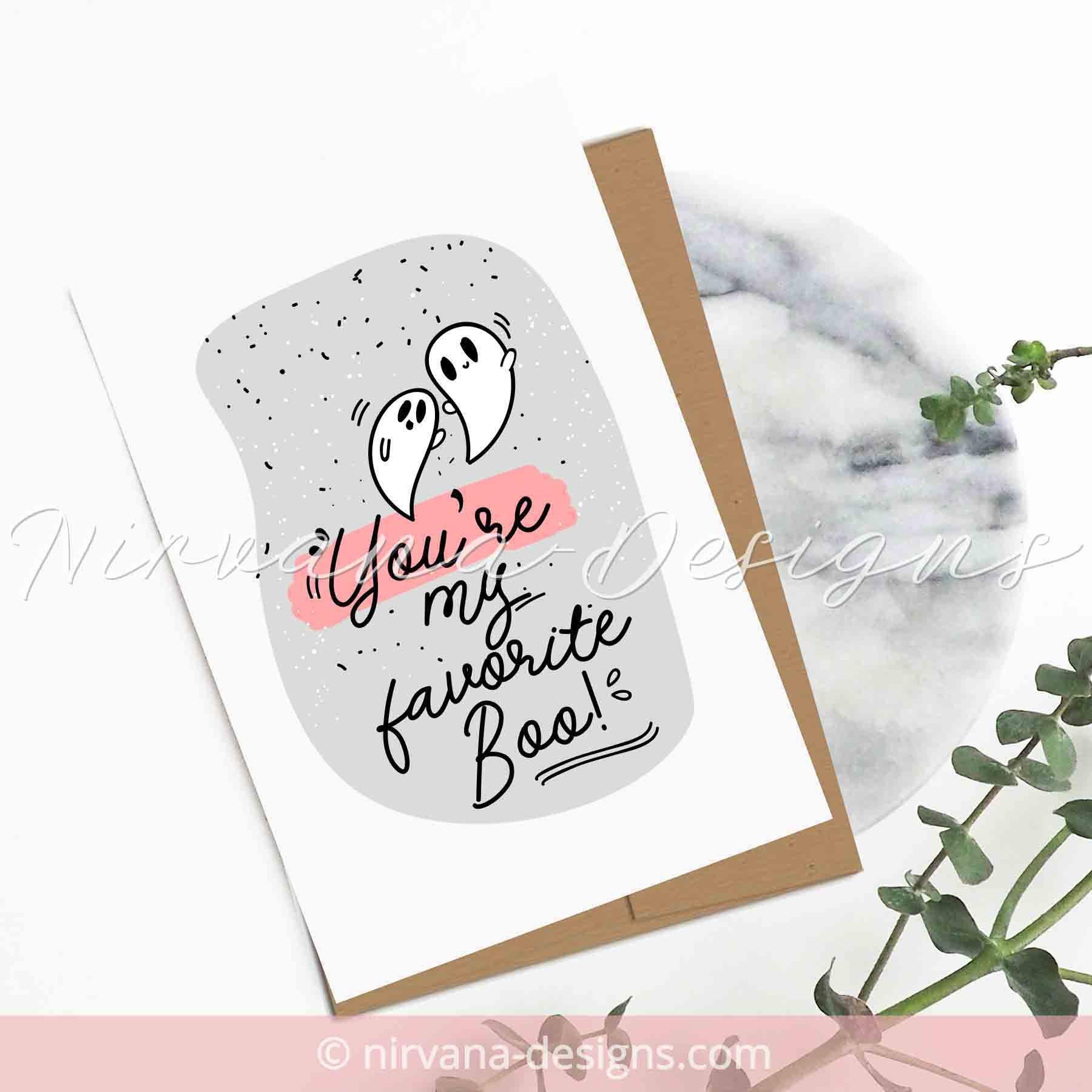 Halloween love card handmade anniversary card for husband wife