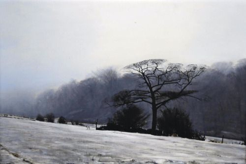 thunderstruck9:  Peter Brook (British, 1927-2009), Frosty. Oil on canvas, 49.5 x 75 cm.