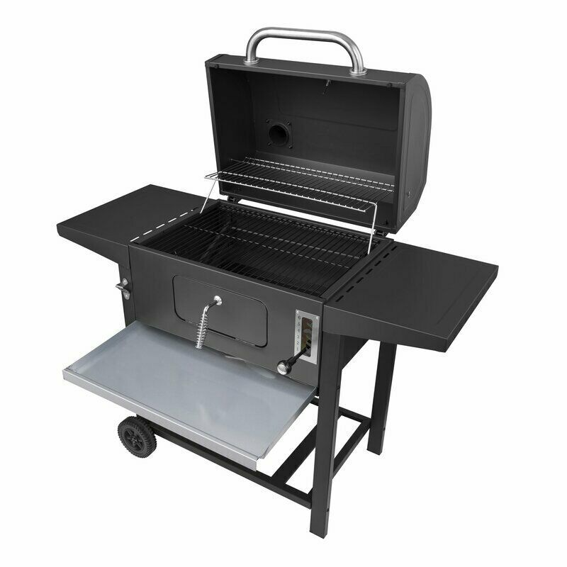 Chef cook griller steak outdoor 24 barrel charcoal grill