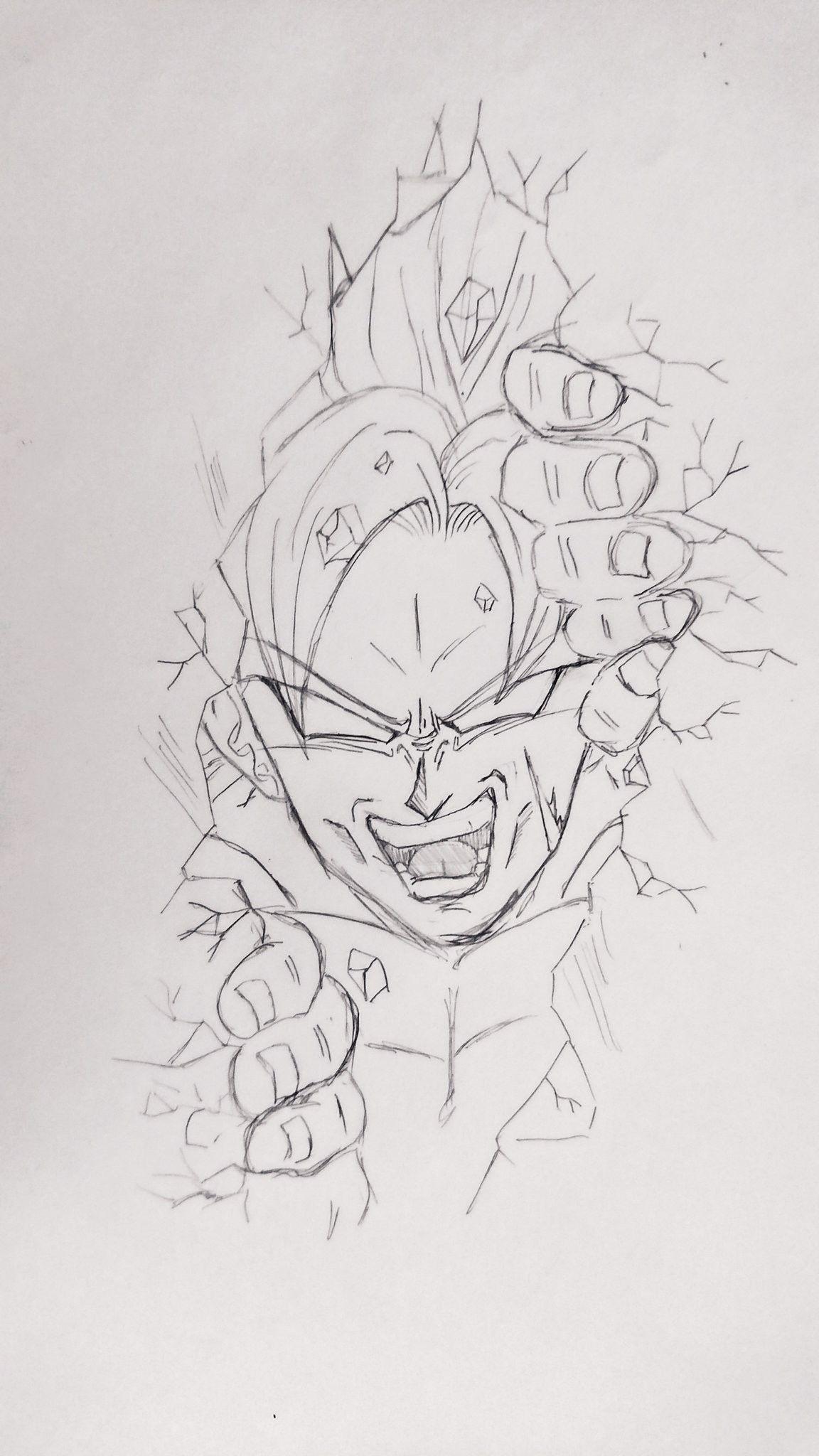 Pin De Angie En Dibujo Goku Zeichnung Zeichnungen Y Anime Kunst