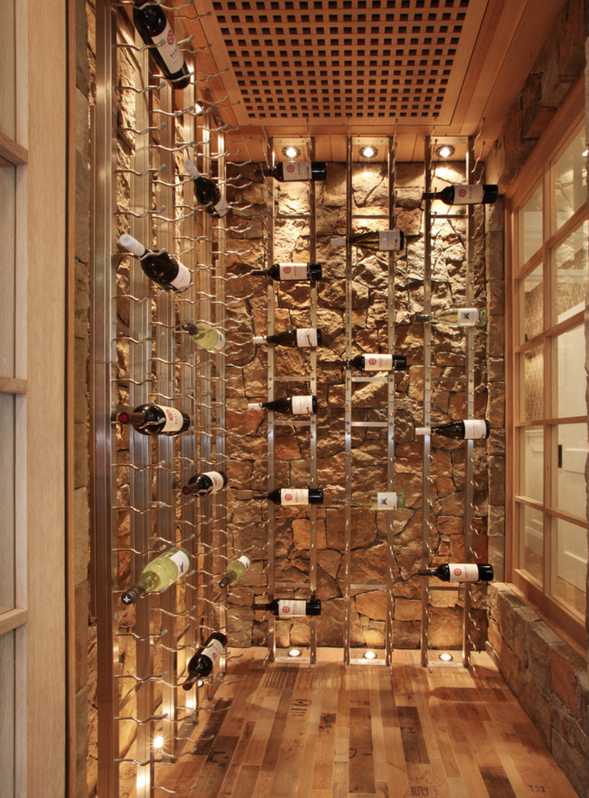 Weinkeller einrichten modern  Our future wine storage room. Concrete/cellar-like floors with ...
