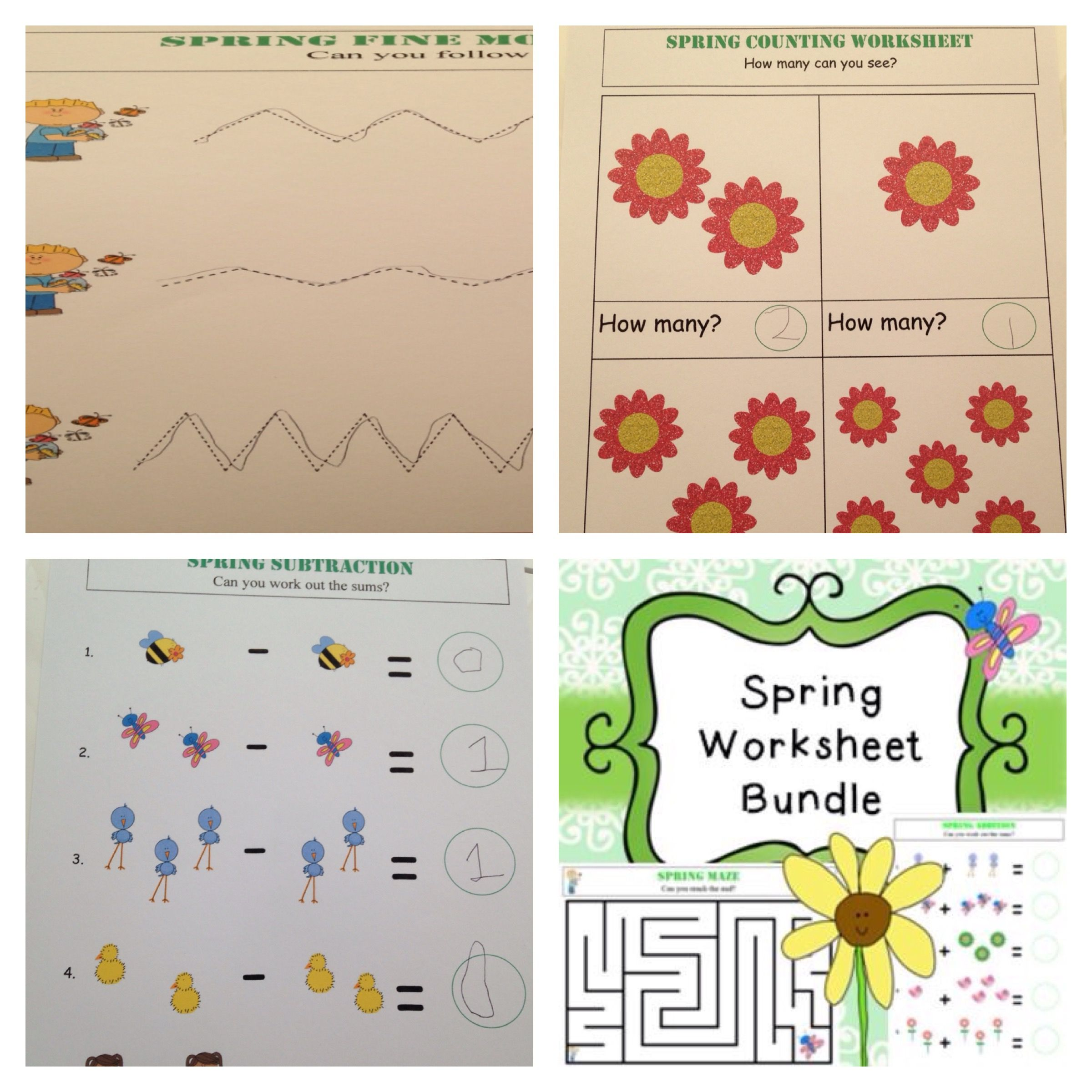 Spring Worksheet Bundle This Bundle Includes The Following