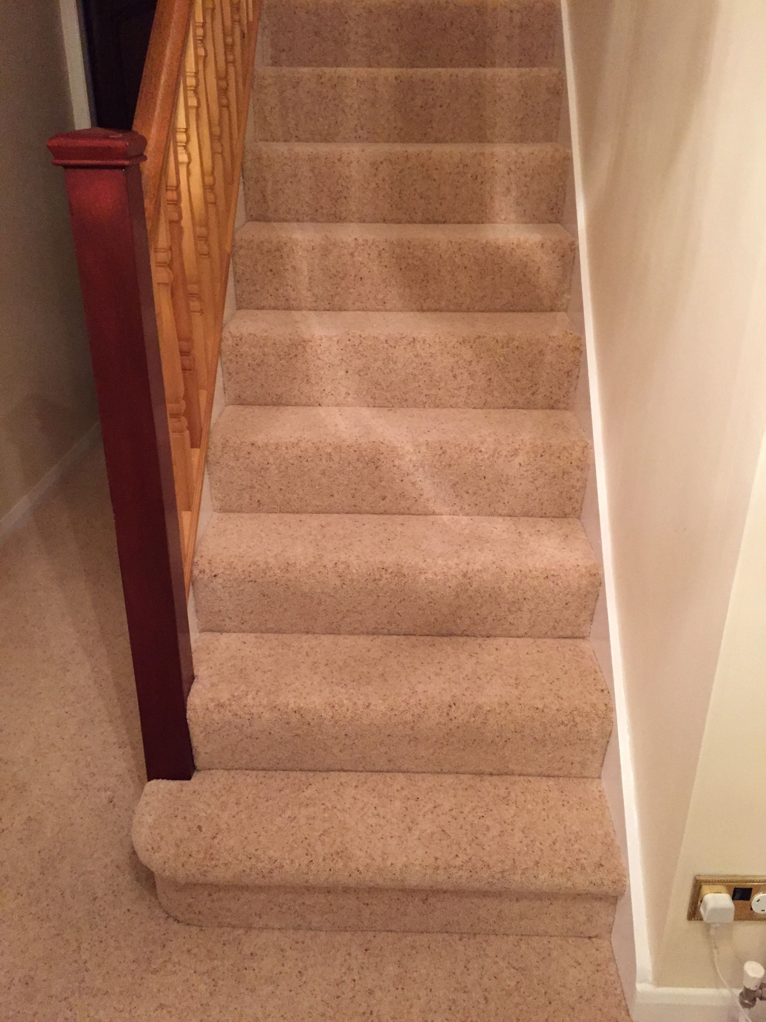 Best Beige Carpet Fitted To A Hallway And Stairs In Wilmslow 400 x 300