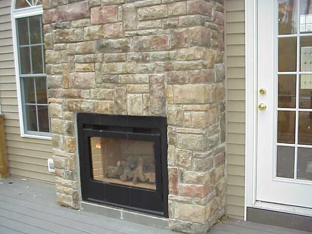 Heat n glo twilight indoor outdoor fireplace with masonry for Back to back indoor outdoor fireplace