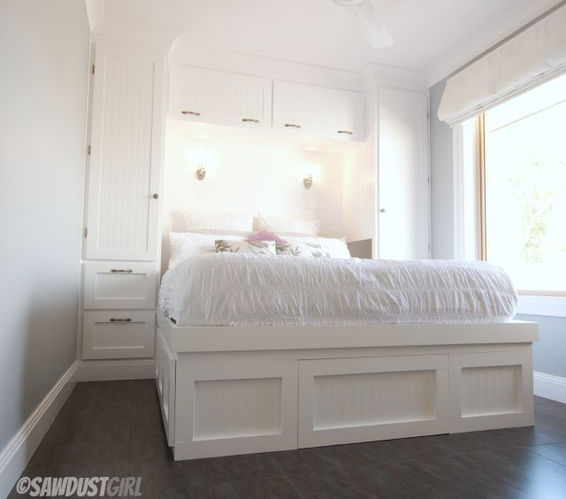 Built In Wardrobes And Platform Storage Bed, Bed Built In Four Parts So Can  Be Transformed Into Daybed With Storage