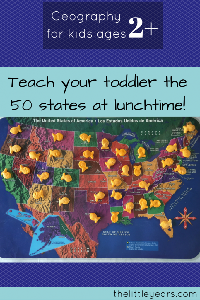How To Teach Your Twoyear Old All States Geography For - Us map old time