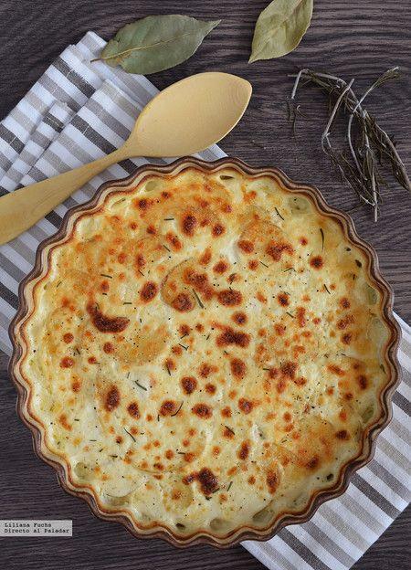 Gratinado de patatas con provolone al romero y laurel: receta de guarnición