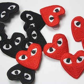 Comme Des Garcons Play Cdg Brooch Black Red Love Black And Red Comme Des Garcons Play Mens Accessories Display
