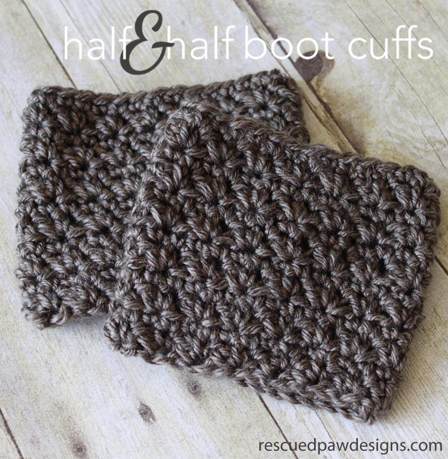 Half & Half Boot Cuffs - Free Crochet Pattern | Free crochet ...