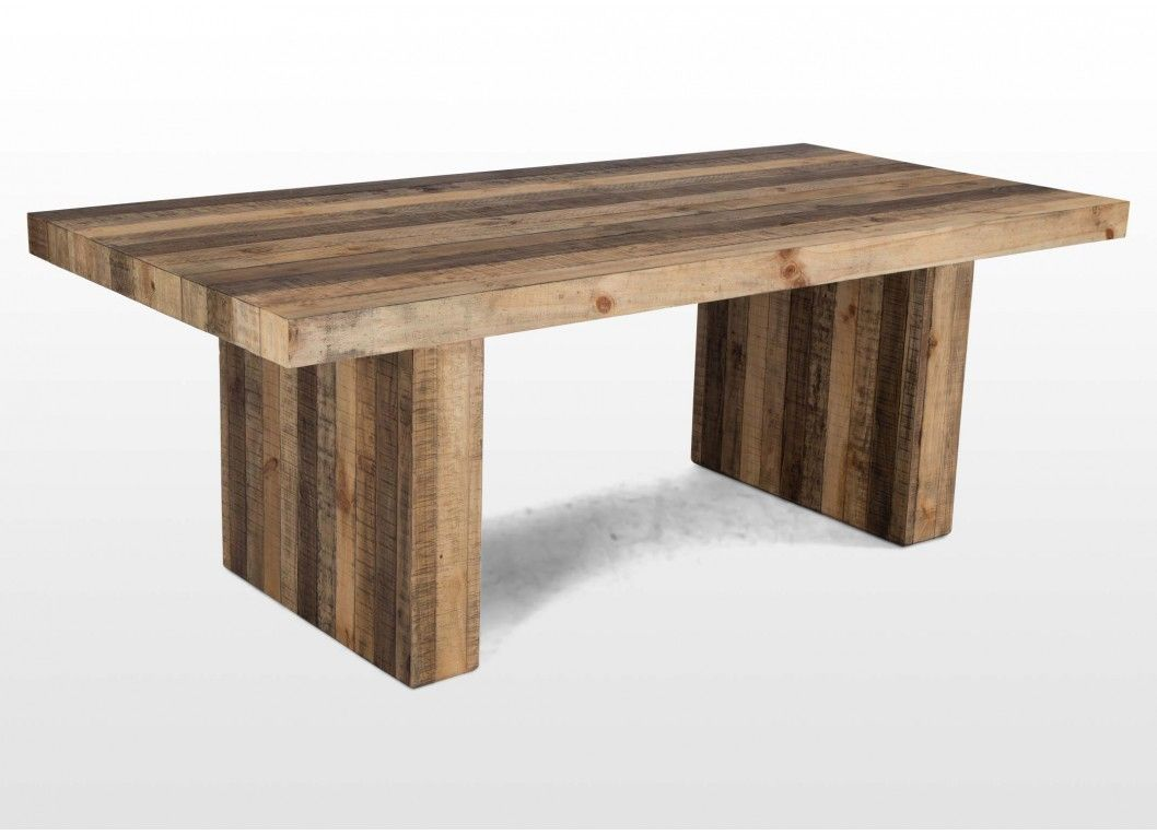 Rustic Reclaimed Pine 6 Seater Dining Table Polygon 6 Seater