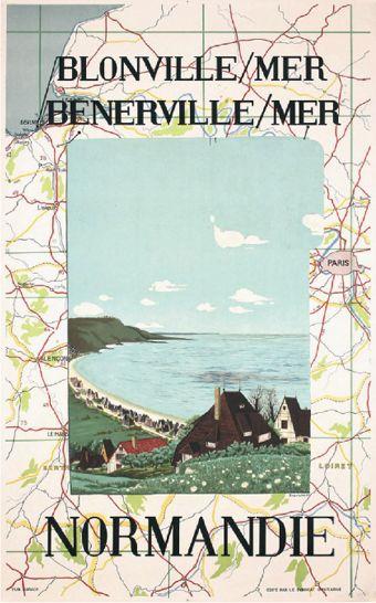 Normandie - Blonville Mer  by Bravura  1949  - for more inspiration visit http://pinterest.com/franpestel/boards/