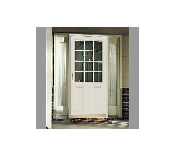 Black Storm Doors Andersen Deluxe Wood Core With Retractable Screen And