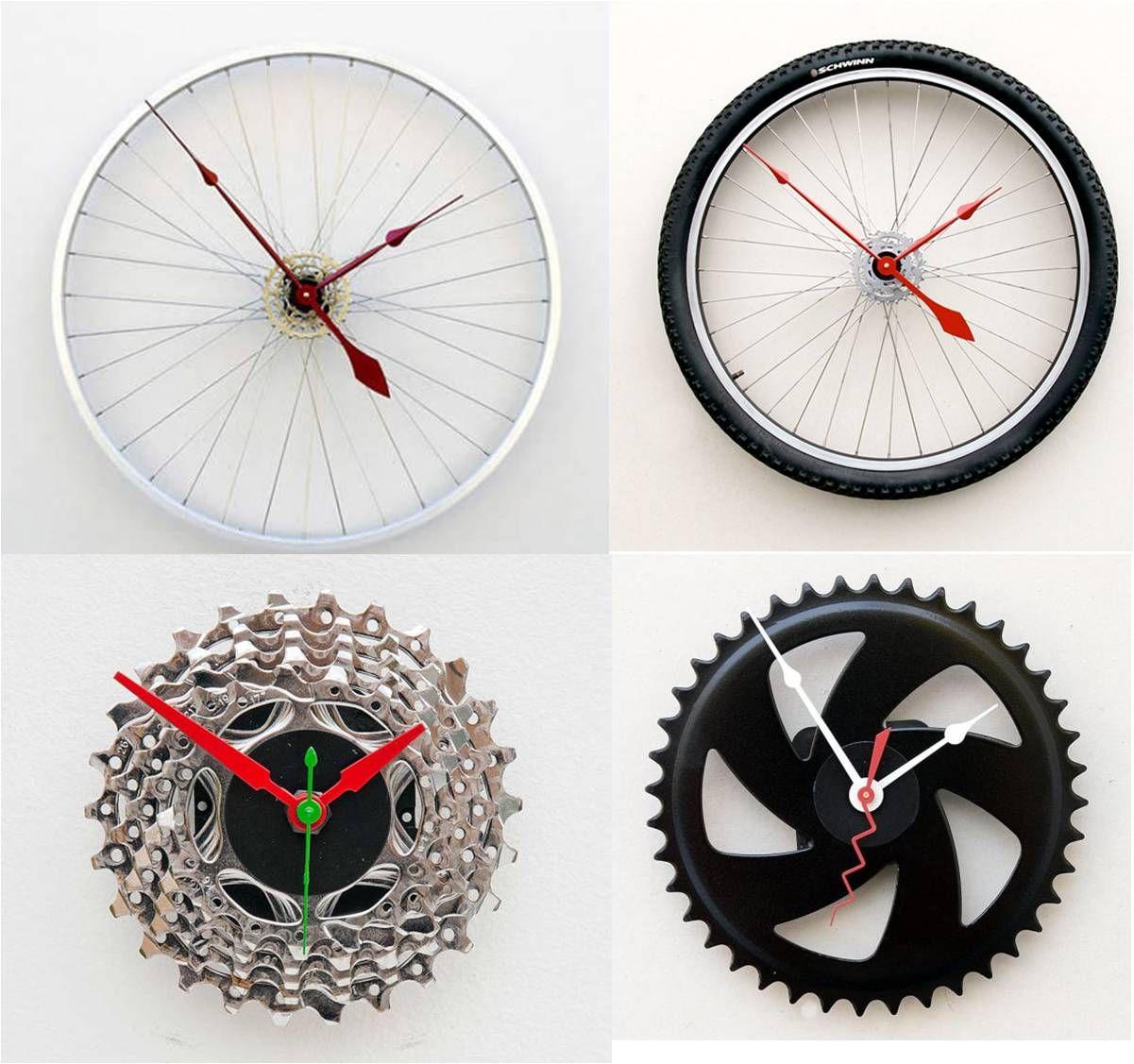 Imagem3 artesanato com sucata de bike pinterest fahrrad wanduhren und basteln - Coole wanduhren ...