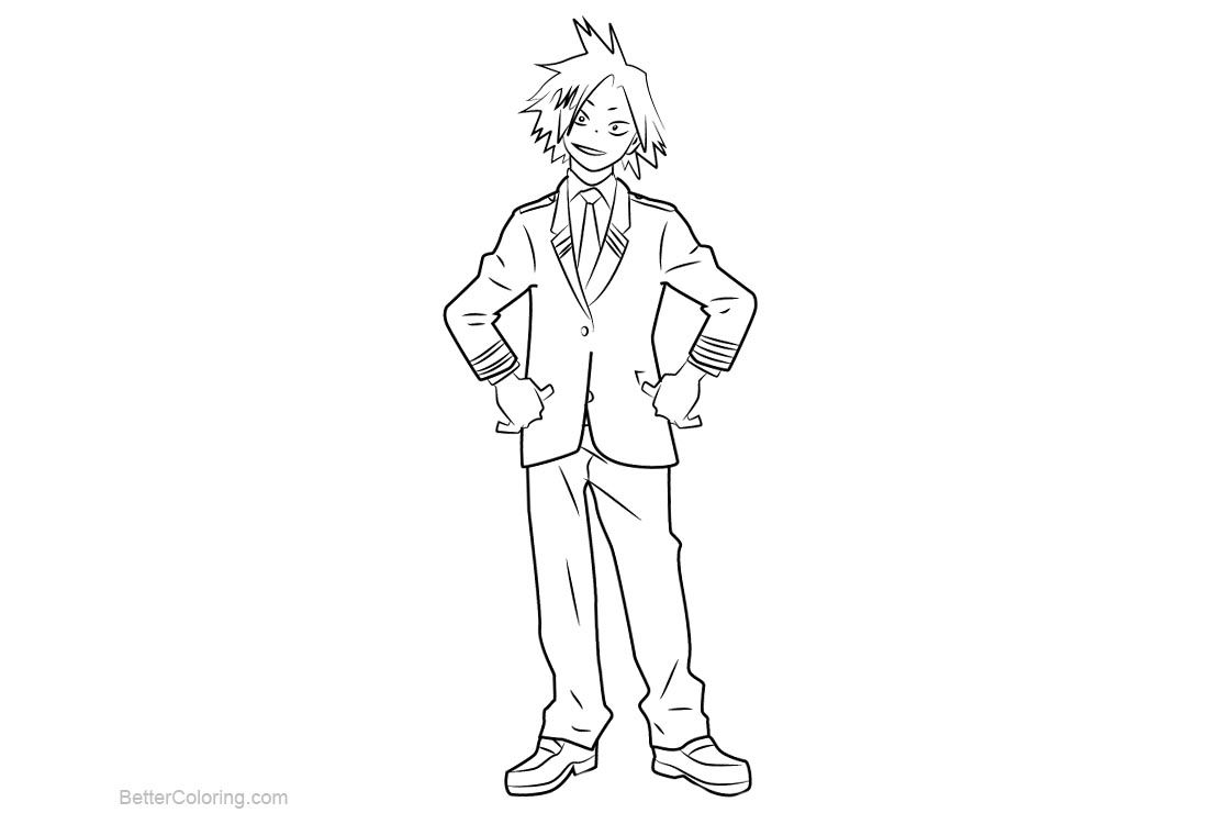 Free My Hero Academia Coloring Pages Denki Kaminari Printable For Kids And Adults You Can Download And Prin My Hero Academia My Hero Paw Patrol Coloring Pages