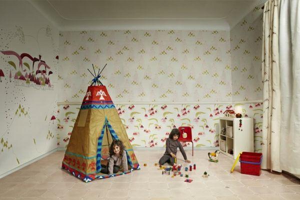 Süße Farben und Wandgestaltung im Kinderzimmer und