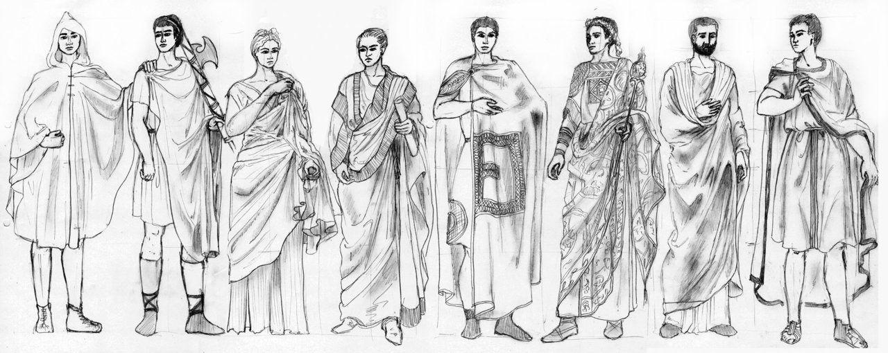 Костюм древних римлян картинки