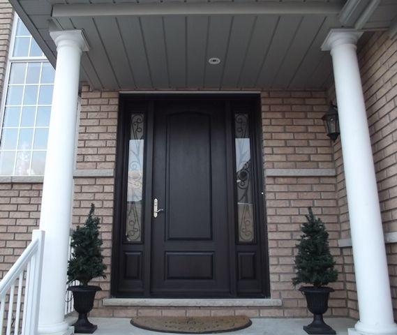 8 Height Solid Fiberglass Door With Wrought Iron