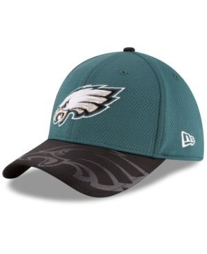 f3b072cef5dfa New Era Philadelphia Eagles Sideline 39THIRTY Cap - Green Black M L ...