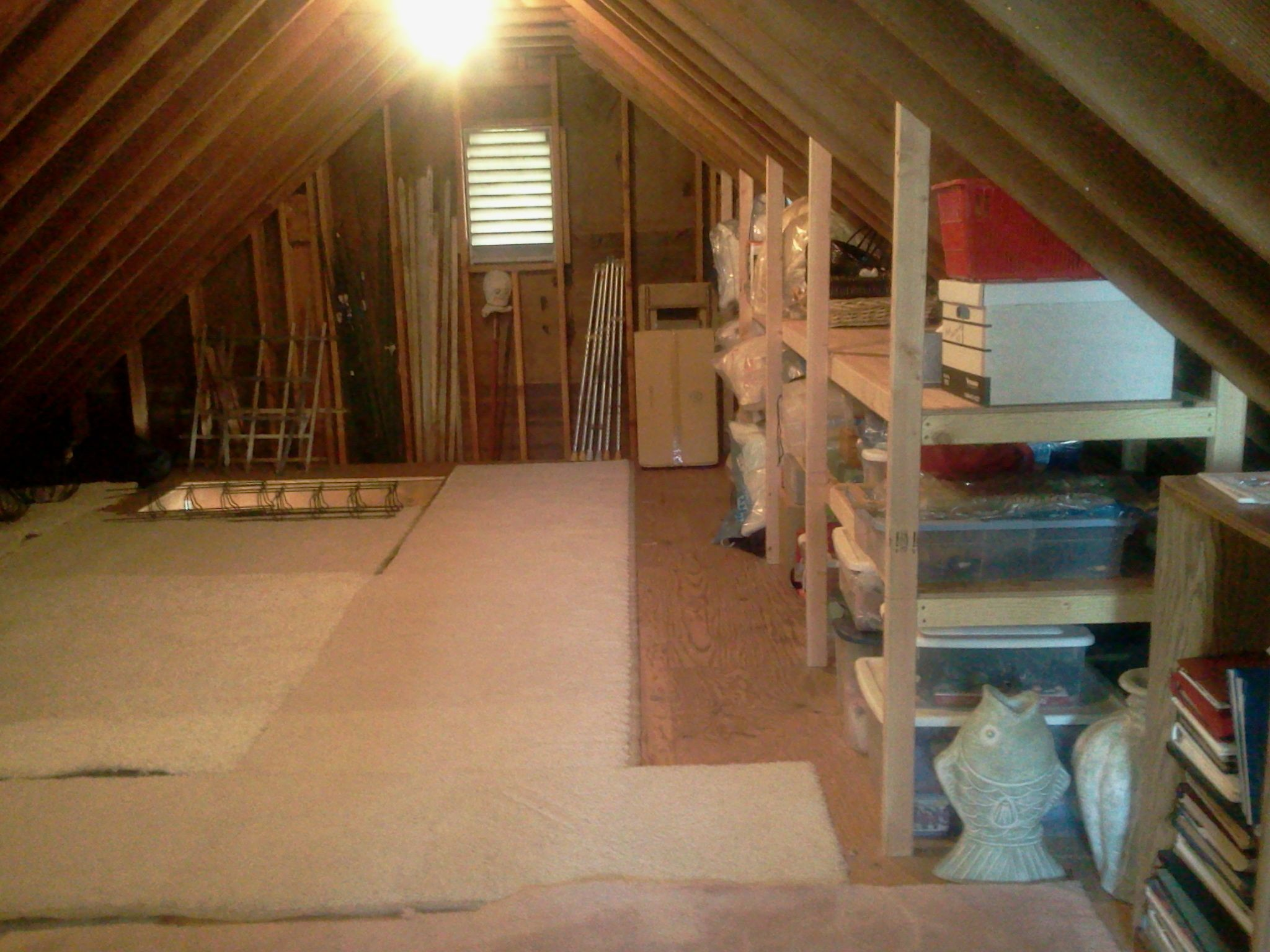 Good Idea For Storage Shelves In Attic Now To Figure Out