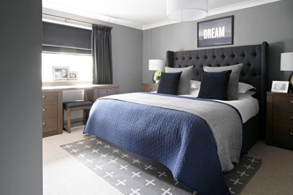 80 Bachelor Pad Men S Bedroom Ideas Manly Interior Design Gray
