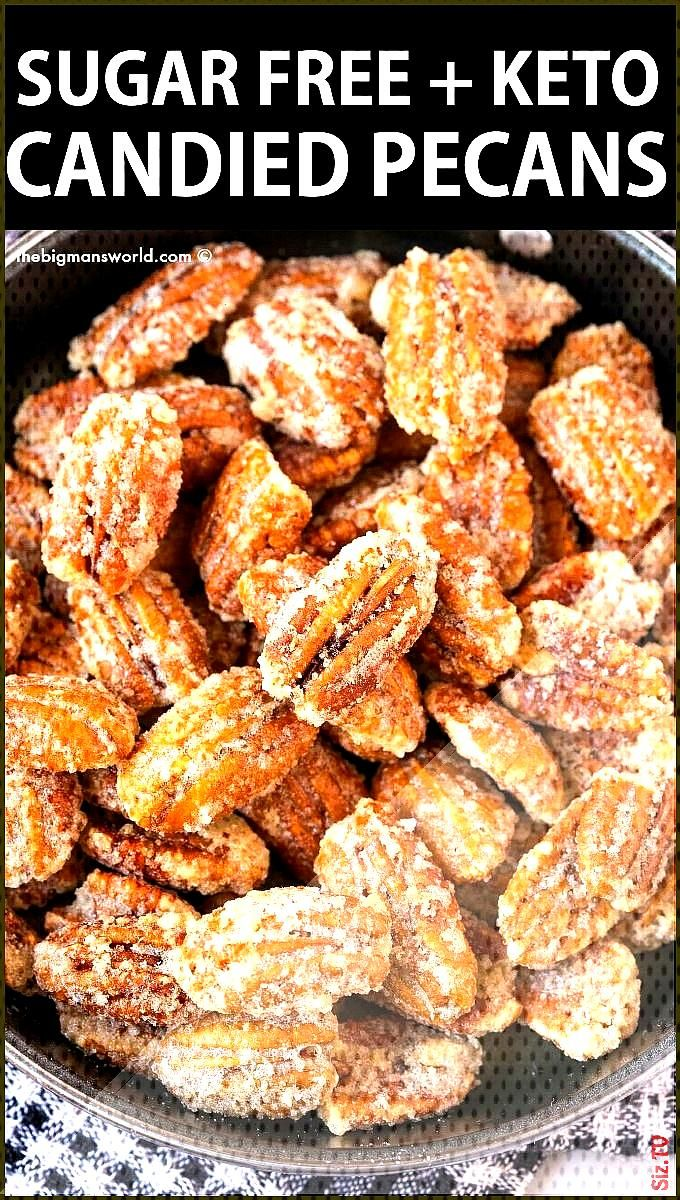 KETO Candied Pecans- NO sugar Vegan  Paleo KETO Candied Pecans- NO sugar Vegan  Paleo The Big Man s