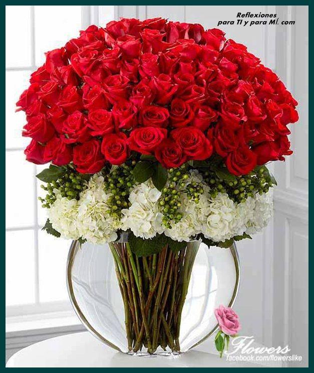 Arreglo Florale Rosas Rojas Buenos Deseos Para Ti Y Para Mi