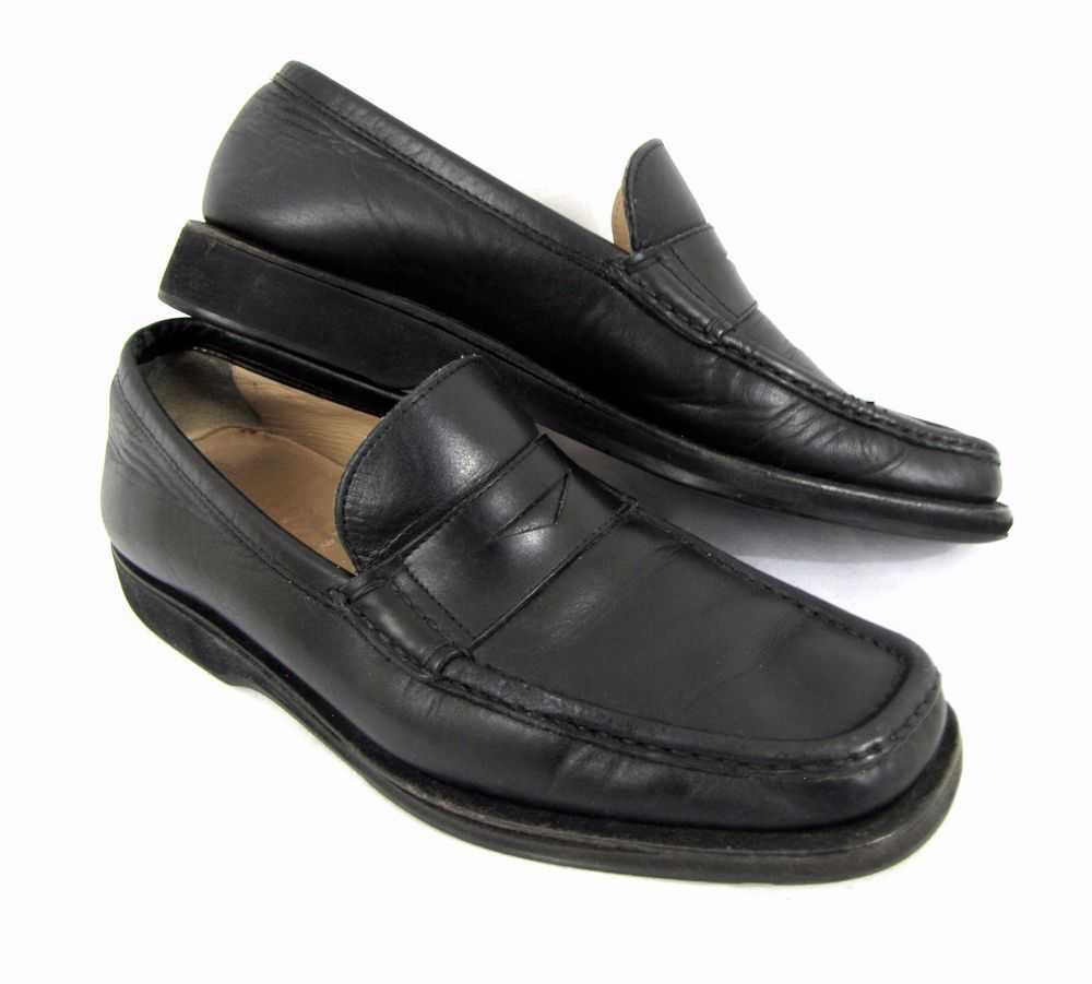 42508660899 Salvatore Ferragamo Penny Loafers 6 1 2 D Black Leather Slip-On Shoes  Medium  SalvatoreFerragamo  LoafersSlipOns