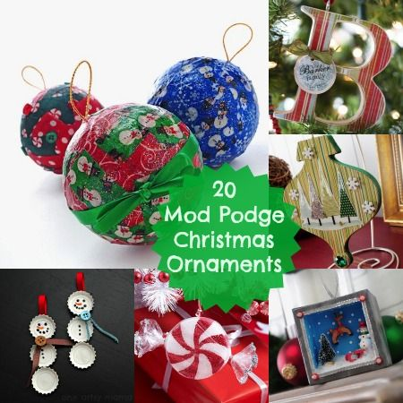 20 simple and pretty mod podge ornaments diy christmas christmas 20 mod podge diy christmas ornaments very easy tutorials solutioingenieria Image collections