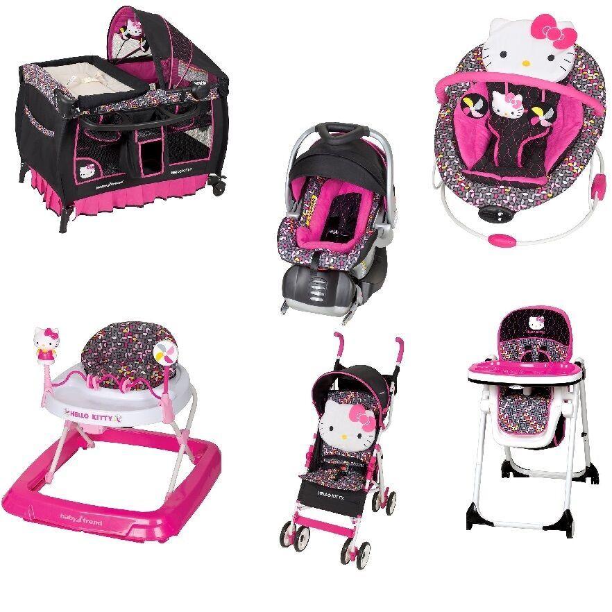 New Hello Kitty Nursery Set Stroller Car Seat Bouncer High