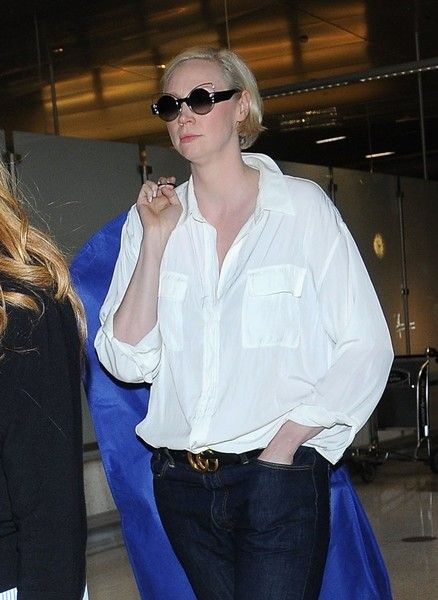 Gwendoline Christie is spotted leaving LAX.