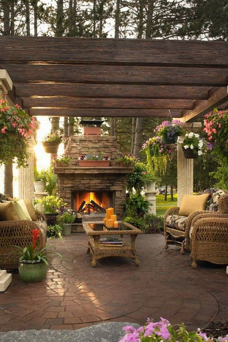 20 Elegant Outdoor DIY Fireplace Design Ideas That Easy To ... on Simple Outdoor Fireplace Ideas id=66762
