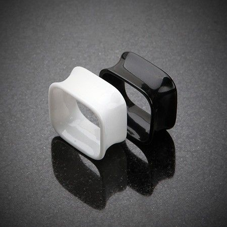 Square Tunnel Double Flared Ear Gauge Plug #eargauge #piercing #bodymods