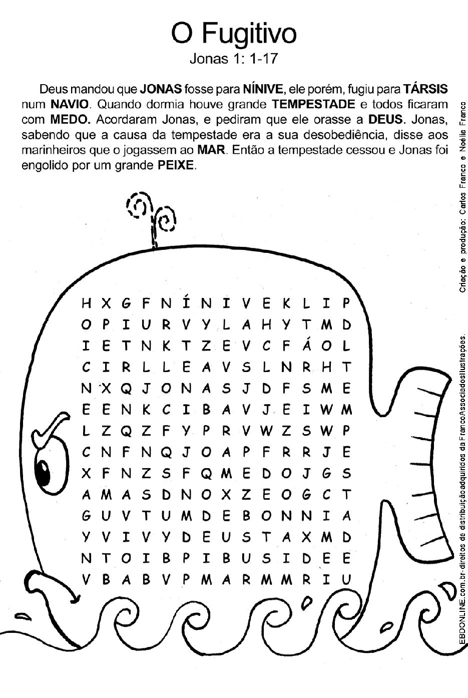 A História de Jonas | Sabbath Children Class | Pinterest | Manualidades